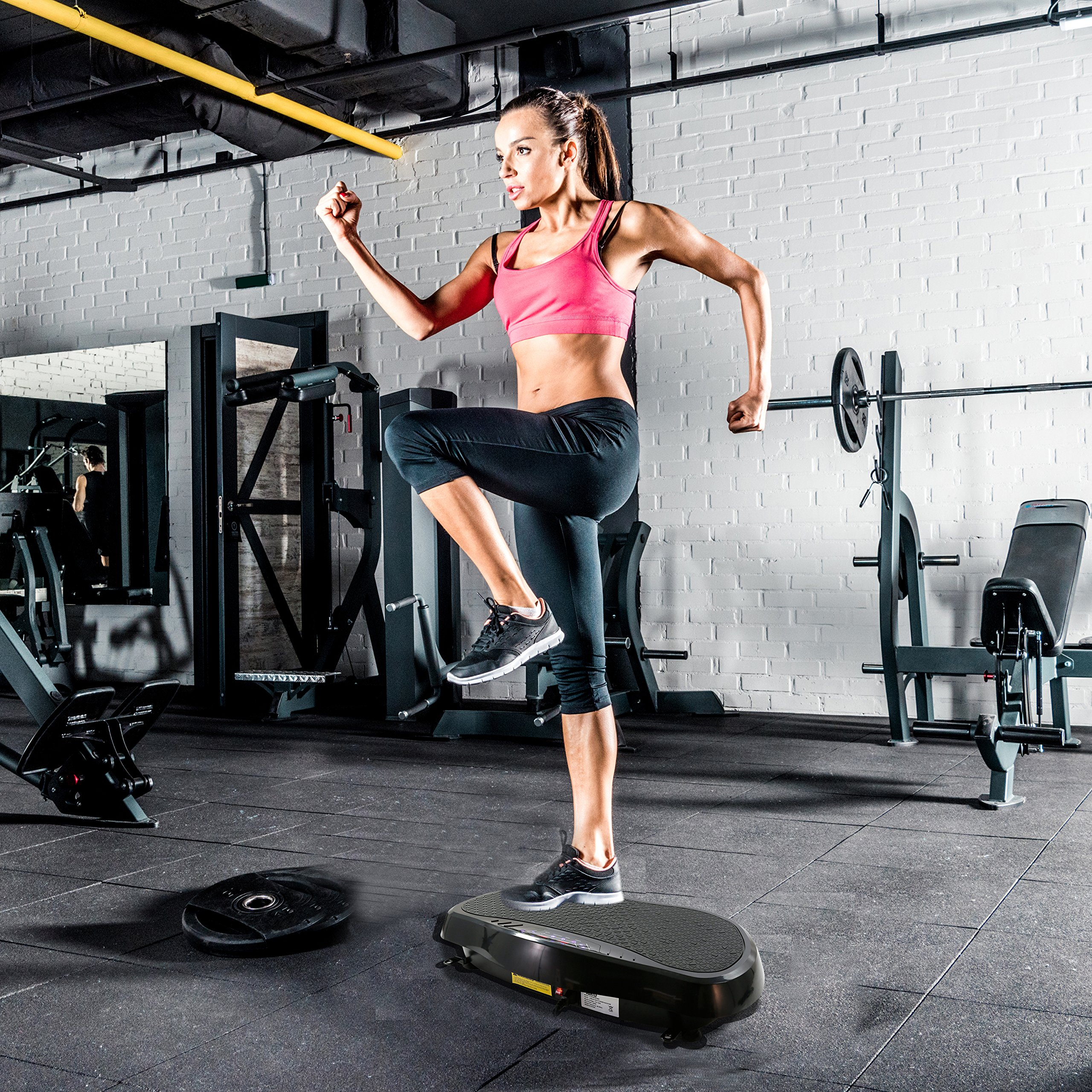 Hurtle Crazy Fit Vibration Fitness Machine - Anti-Slip Vibrating Platform Exercise & Workout Trainer, with Built-in Bluetooth Speakers, Ideal for All Body Types & Age Groups. (HURVBTR35BT) by Hurtle (Image #6)