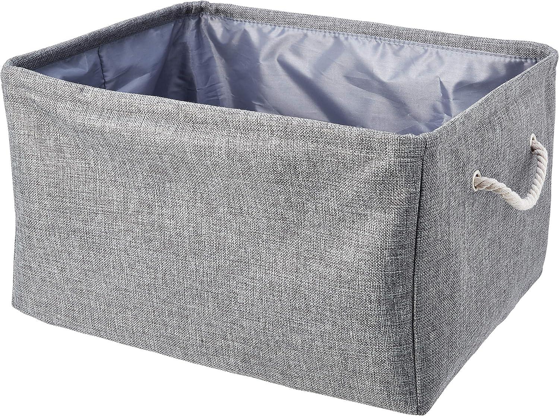 Basics Confezione da 2 Cesto portaoggetti in tessuto con manici Medio