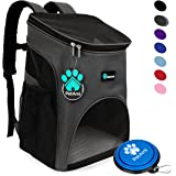 PetAmi Premium Pet Carrier Backpack for Cats and Small Dogs by Ventilated Design, Safety Strap, Buckle Support | Designed for Travel, Hiking & Outdoor Use