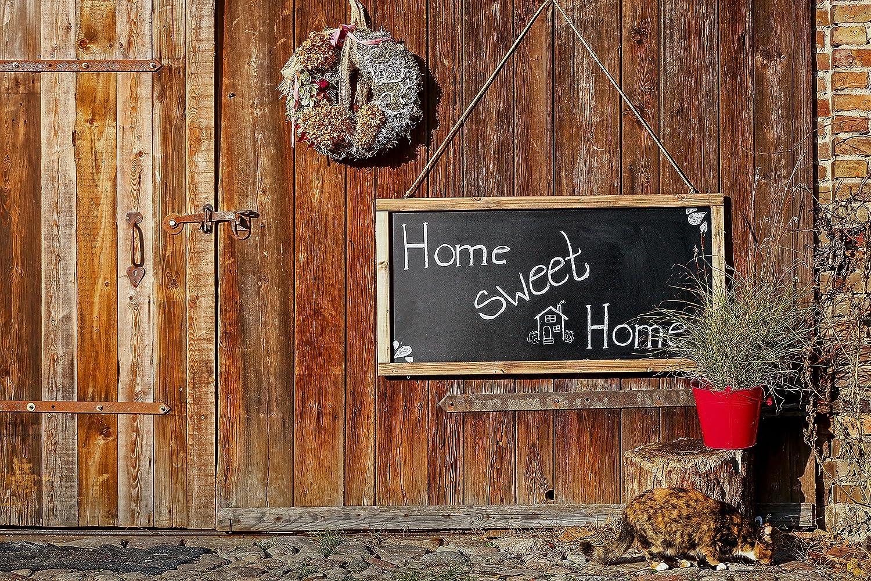Rustikale Tafel Kreidetafel Wandtafel K/üchentafel mit Holzrahmen zur Beschriftung mit Kreide im Landhausstil 60x120cm Kolonialfarben