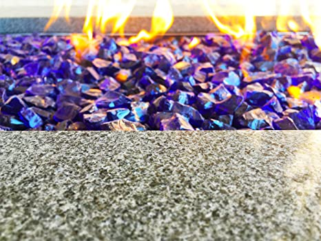 Large Royal Blue Fire Glass Fire Pit Glass 1/2&quot ... - Amazon.com: Large Royal Blue Fire Glass Fire Pit Glass 1/2