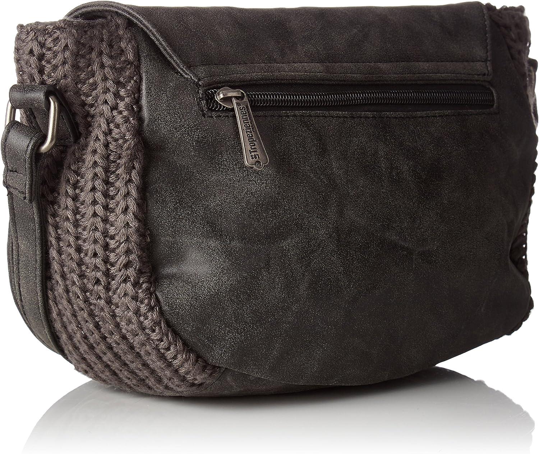 Noir 11x18x30 cm W x H L Black Women/'s Cross-Body Bag Les Trop/éziennes Tyr04