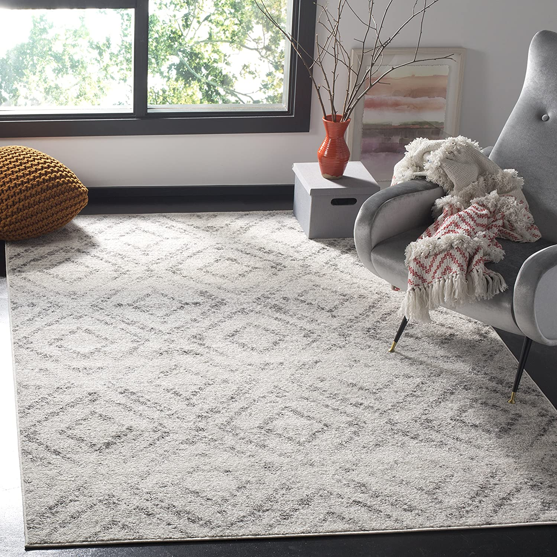 Safavieh Murray Area Rug Woven Polypropylene Carpet In Light Grey Grey 90 X 150 Cm Amazon Co Uk Kitchen Home