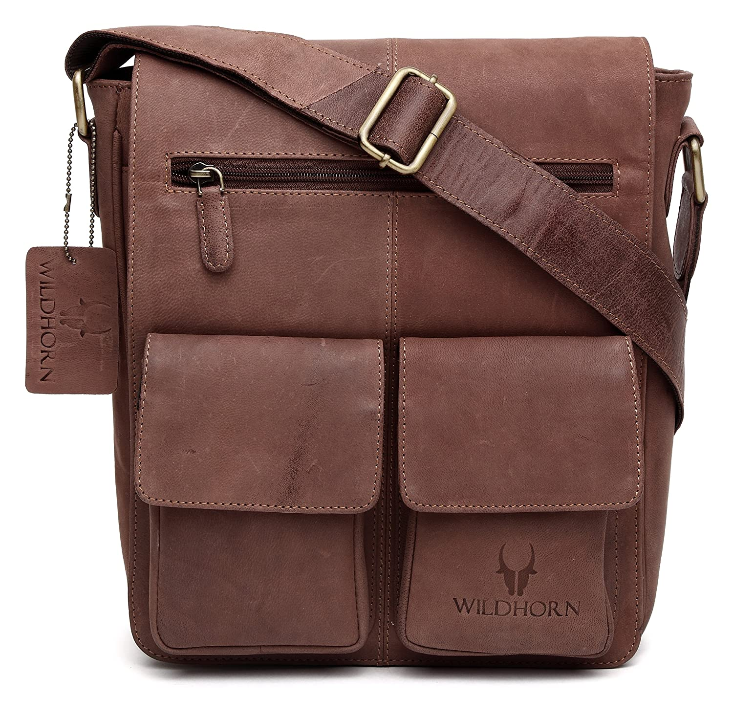 WildHorn Leather 27.94 cms Brown Messenger Bag (WHM231)  Amazon.in  Bags 631753fde3f0e