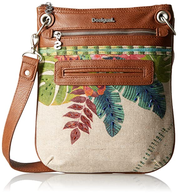 Amazon.com: Desigual Bandolera Tropical Fly Bolsa, Blanco ...