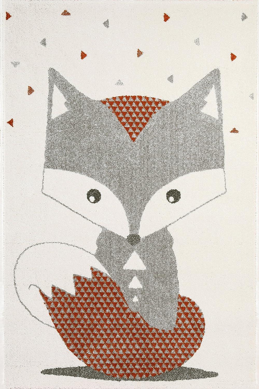 Art for Kids Animal Design Kinder Zimmer der Fox Teppich, Mehrfarbig, 100 x 150 cm P, Plastik, Mehrfarbig, 135 x 190 cm