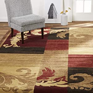"""Home Dynamix Catalina Pierre Contemporary Modern Area Rug 19.6""""x31.5"""" Geometric Brown Red Beige"""