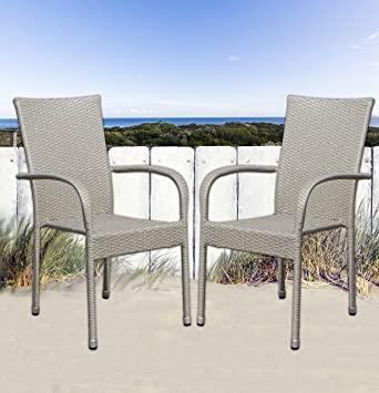 32 Terrassenstühle Bistrostühle Grau Stapelbar Gastro Stühle Cafe