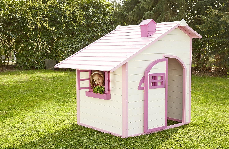 Sun Casa de juguete Niños casa de juguete para exterior Rosa Jardín Hogar infantil niños parte Casa Jardín Casa by woodinis de parte Espacio®: Amazon.es: Juguetes y juegos