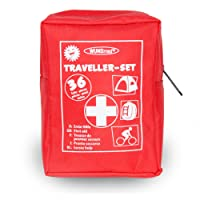 Buy and Happy GbR Erste Hilfe Set für (Reisen, Outdoor, Sport)| die Sicherheit in kleiner Verpackung mit Erste Hilfe Karte | überall zu verstauen