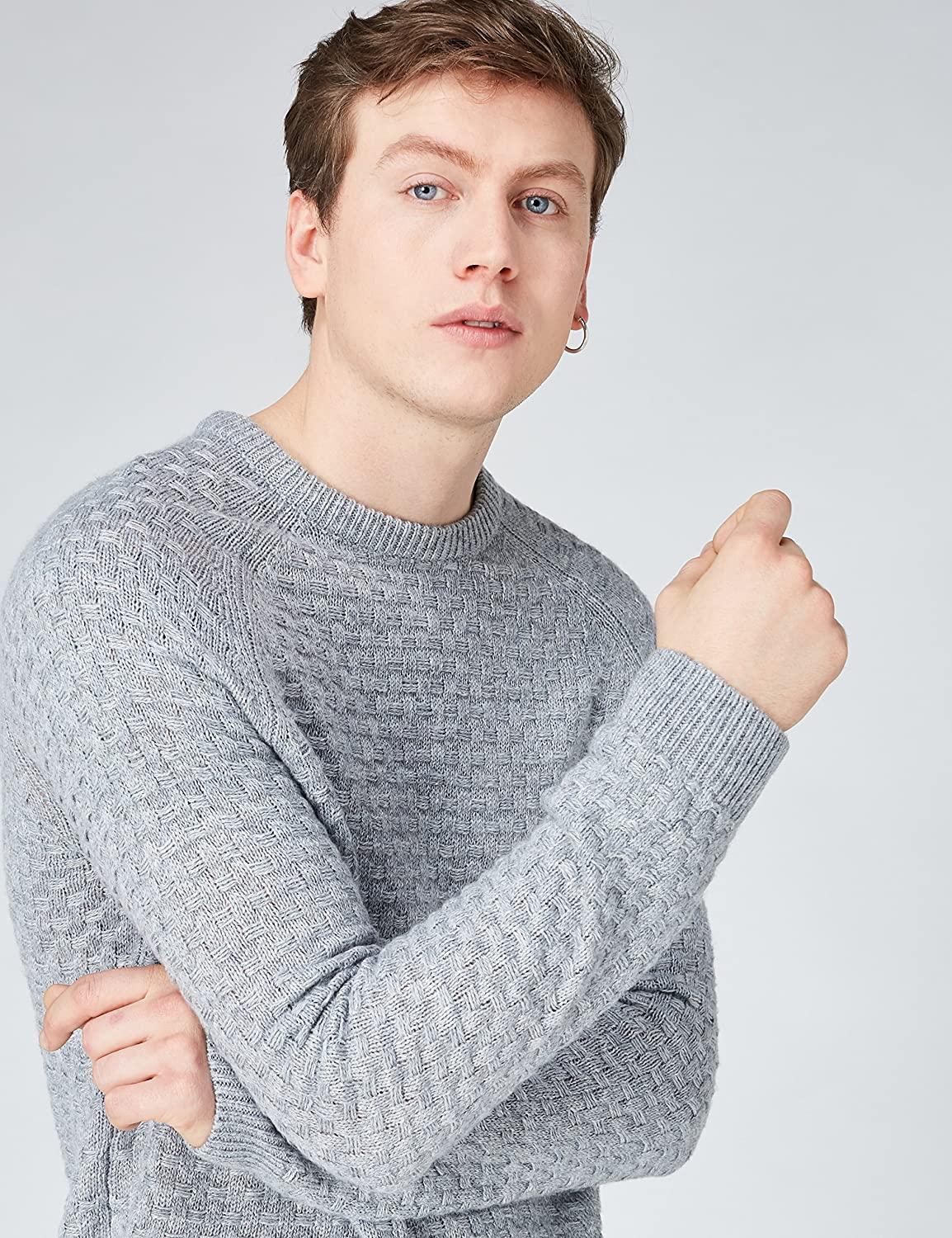 Mens Chunky Knit Crew Neck Jumper find
