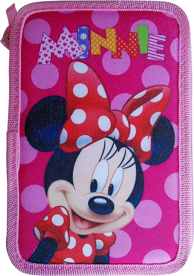 Paxos 82942 – Estuche triple Tejido parte 13 x 20 x 6 cm – Disney – Minnie: Amazon.es: Oficina y papelería