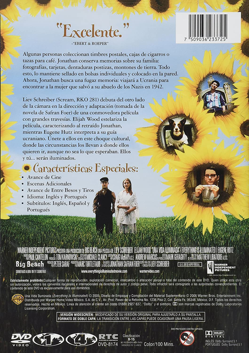 Amazon.com: Una Vida Iluminada (Everything Is Illuminated) [*NTSC/Region 1 & 4 dvd. Import - Latin America] - Mexico: Elijah Wood, Eugene Hutz, Boris Leskin ...