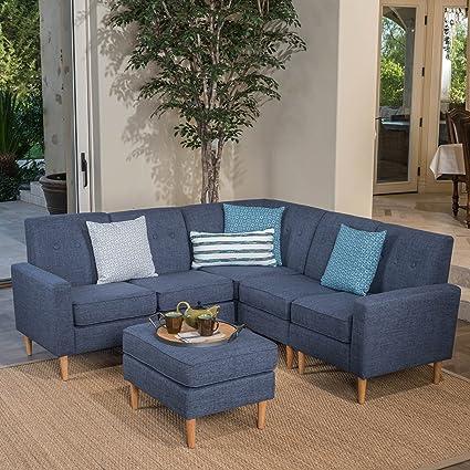 Amazon.com: Samuel 6-Piece Sectional Mid Century Modern Sofa Set ...