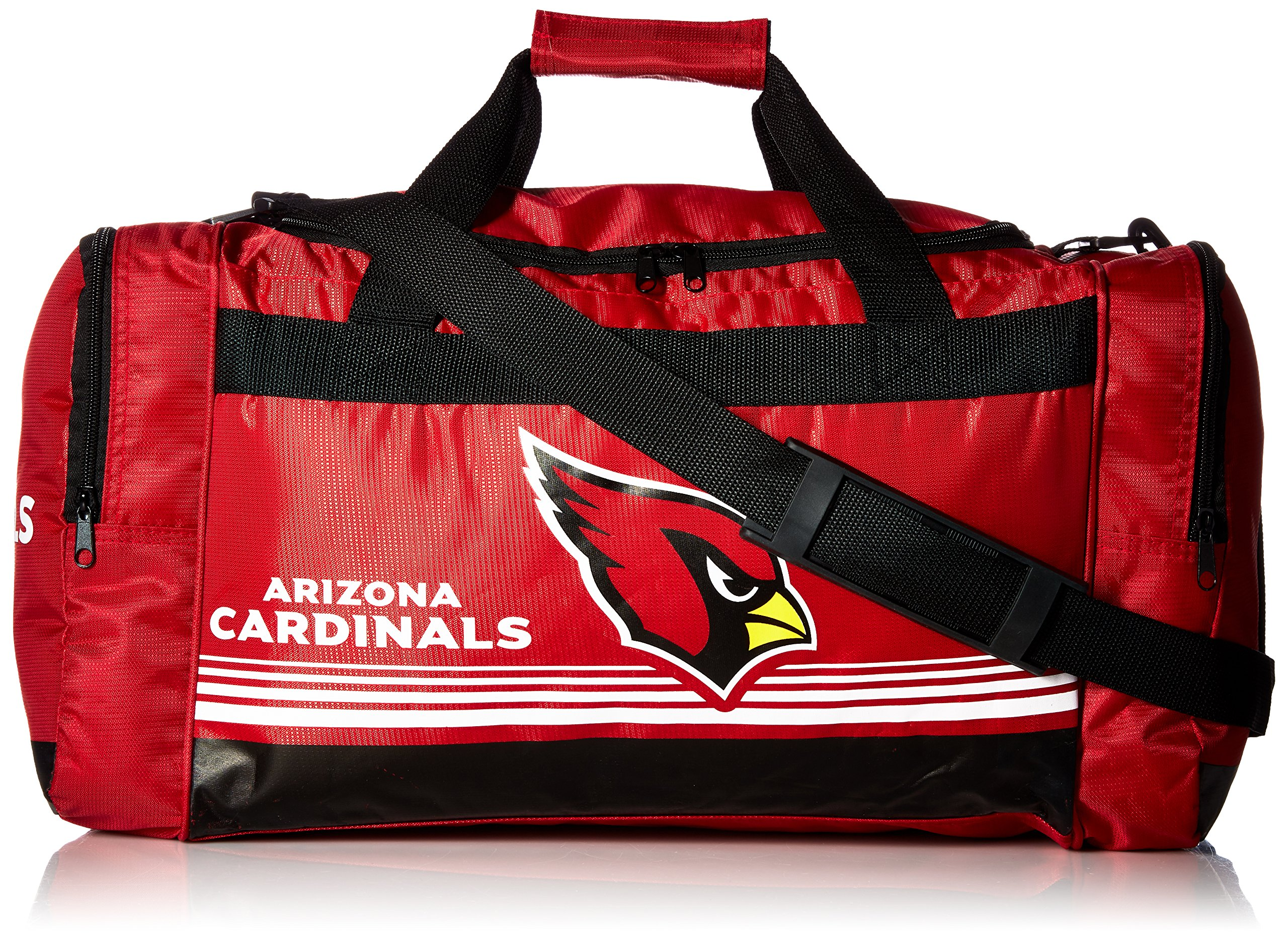 FOCO Arizona Cardinals Medium Striped Core Duffle Bag by FOCO