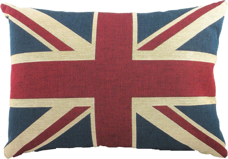 Imbottitura in Poliestere Evans Lichfield Union Jack ca 45,7 x 33 cm Cuscino con Bandiera Inglese