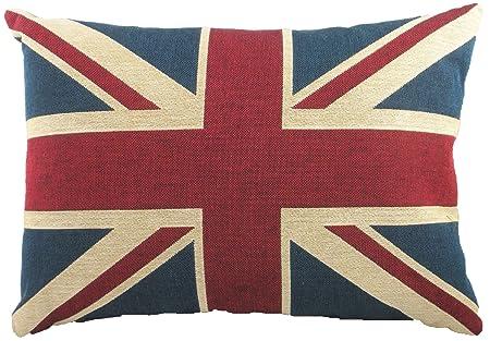 Evans Lichfield LB363 - Cojín en Tela de Tapiz con diseño de la Bandera británica, 46 x 33 cm, Relleno de Fibra de poliéster