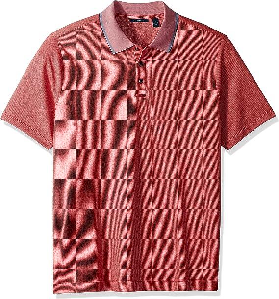 Perry Ellis Hombre 4DSK7636 Manga Corta Camisa Polo - Rojo - X ...