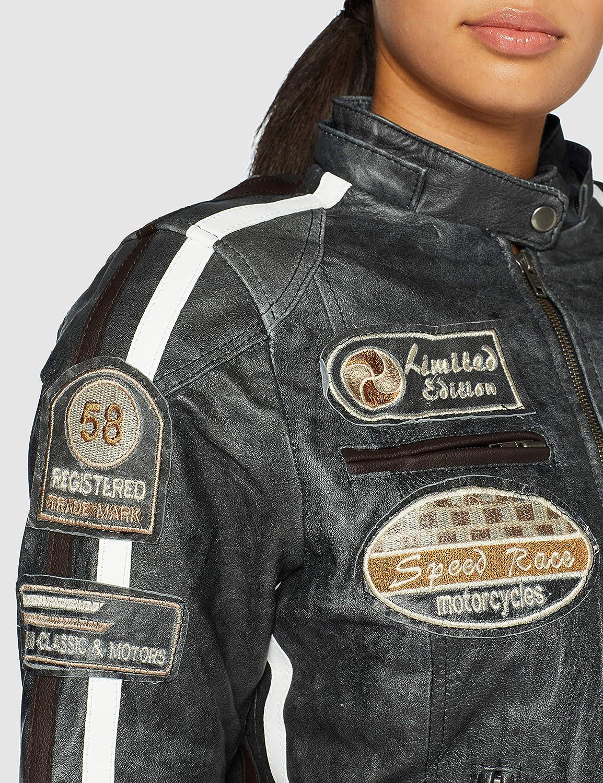2XL Schultern und Ellbogen Lammfell Bikerjacke Urban Leather Damen Leder-Motorradjacke 58 Ladies rot CE-gepr/üfte abnehmbare Protektoren f/ür R/ücken