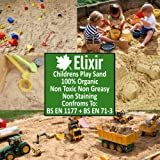 1 x 25kg Play Sand Top Quality Washed & Graded Non Toxic - Tested to BS EN 71-3 BS EN 1177 by Elixir Gardens ® PRIME