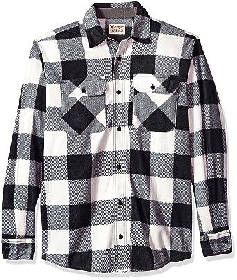 Men/'s Fleece Shirt Jacket with Sherpa LiningButton Up FrontClassic Plaid