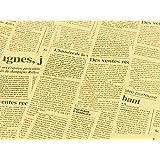 【GIFT】 外国の新聞紙風プリント 茶色 おしゃれでかわいい 包装紙 お花やプレゼント・ギフト商品のラッピングに! 英字 包装紙 10枚