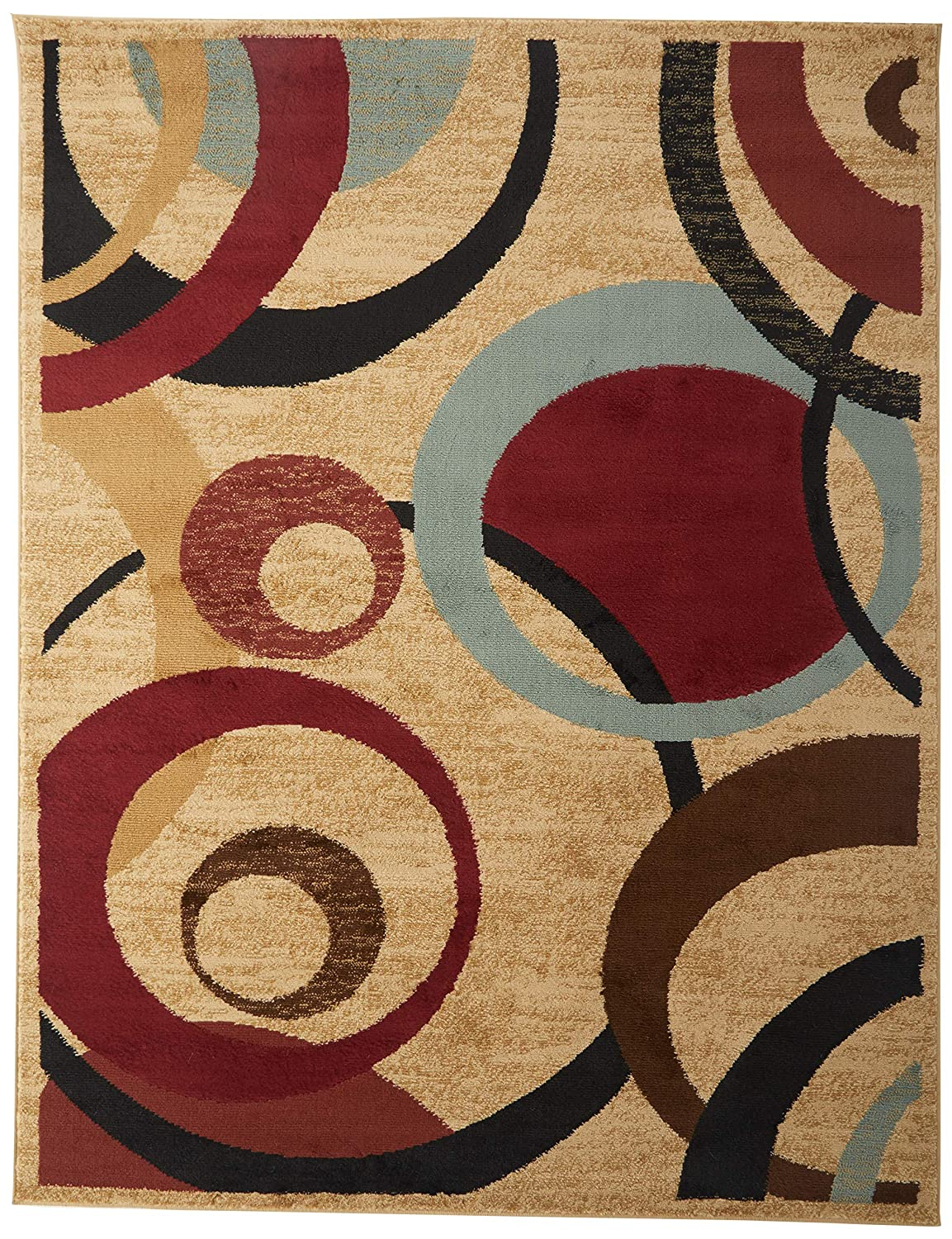 Amazoncom Ottomanson Royal Collection Contemporary Abstract Circle
