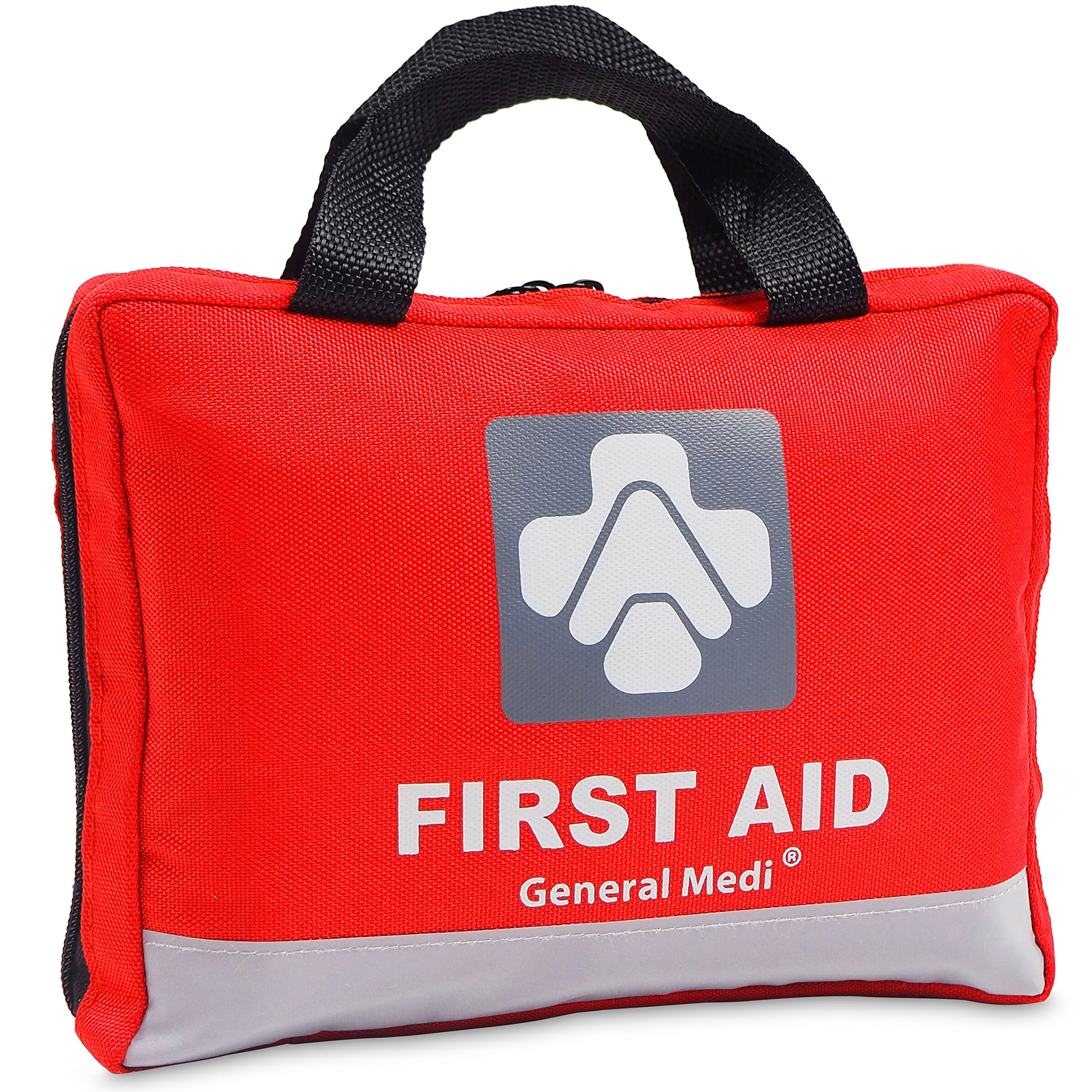 First Aid Kit for Medical Emergency - 309 Pieces Night Reflective Bag - Includes Emergency Blanket, Bandage, Scissors for Home, Car, Camping, Office, Boat, and Traveling