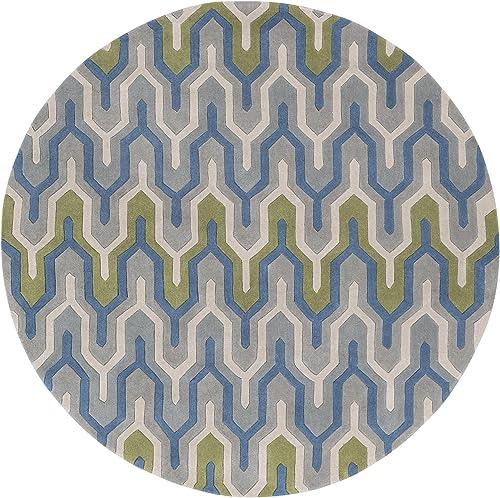 Surya Cosmopolitan Round Area Rug, 8 , Gray