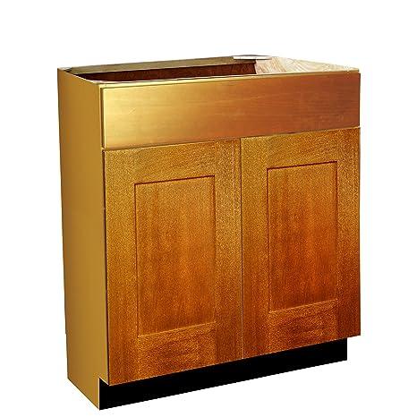 Shaker Panel Door Style Vanity Sink Base 30 Wide 18 Deep