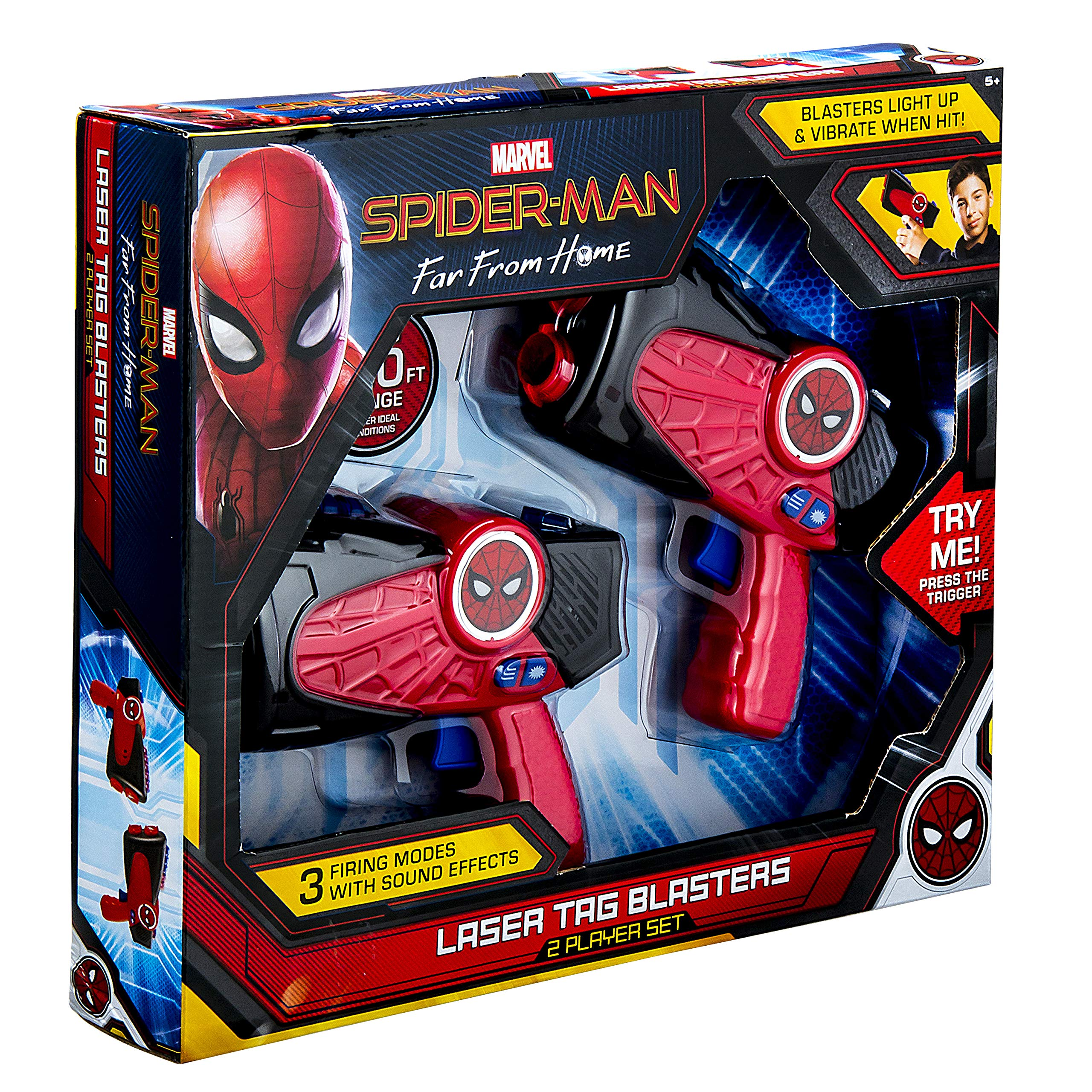 Spiderman Far from Home Laser-Tag for Kids Infared Lazer-Tag Blasters Lights Up & Vibrates When Hit by eKids (Image #7)