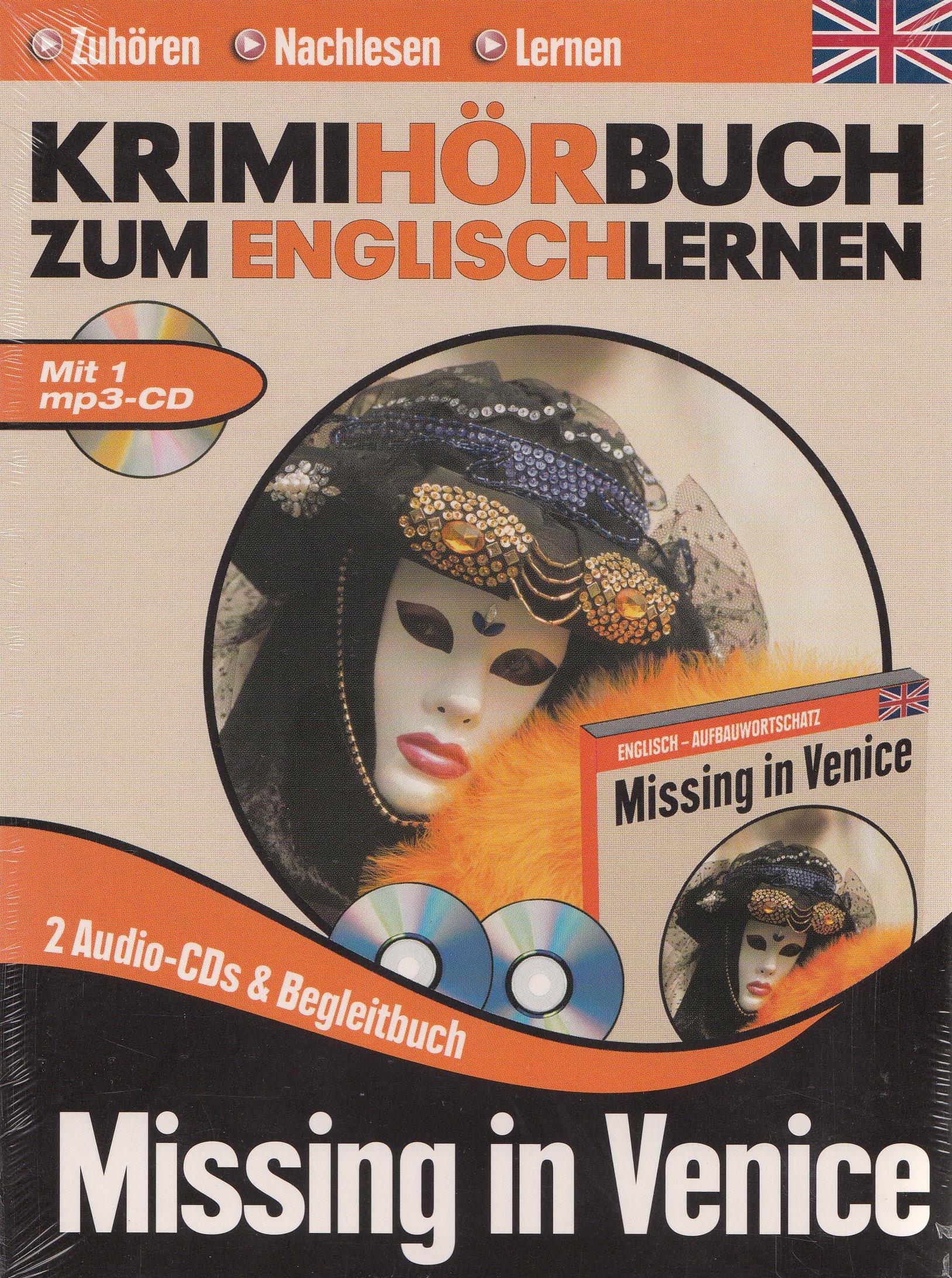 Krimihörbuch zum Englischlernen - Missing in Venice 3 CD Box