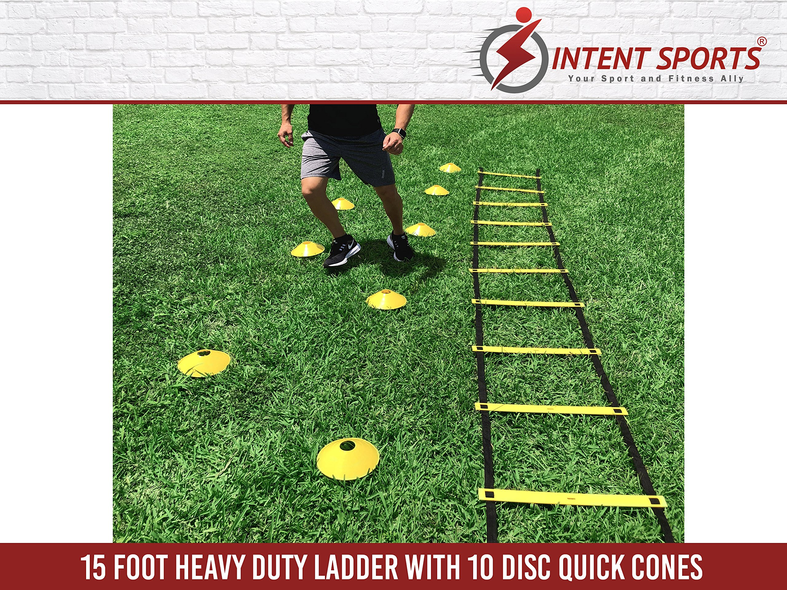 Agility Ladder Speed Training Equipment Workout Basketball Football and 10 Cones