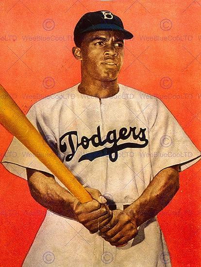 amazon com vintage photo portrait jackie robinson baseball brooklyn