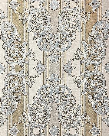 Barock Tapete Edem 580 30 Hochwertige Gepragte Tapete In Textiloptik