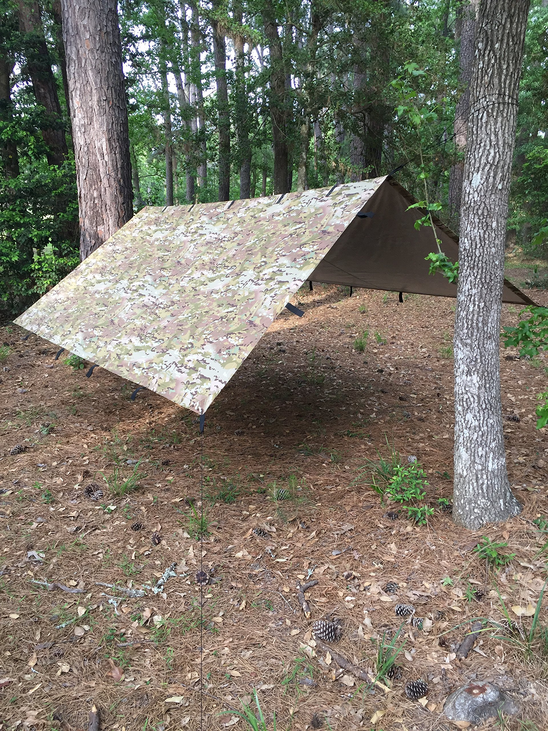 10' x 10' Thermal Reflective Water Proof Tarpaulin Shelter | Mongrel EDT By Arcadia Gear | Multi-Terrain Pattern Tarp Designed For When Your Life Depends On It by Arcadia Gear (Image #4)