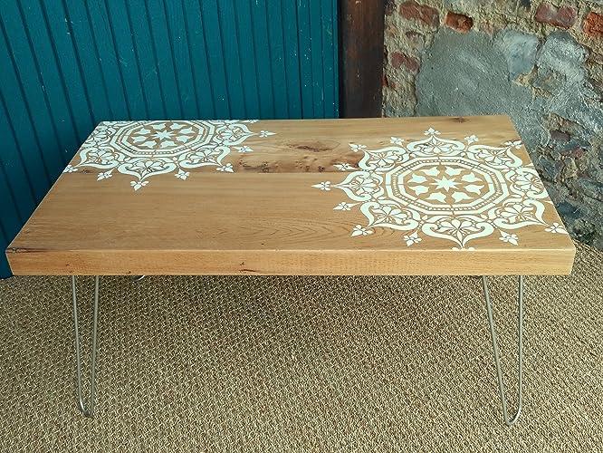 Table Basse Artisanale Rustique Moderne Bois Massif Brut Revisitée