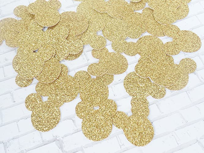Amazon.com: Mickey Mouse Gold Glitter Paper Confetti - Minnie Mouse ...