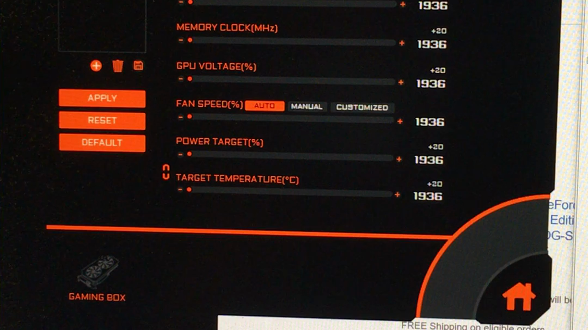 Aorus Graphic Engine does not work correctly