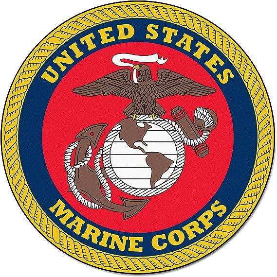 Fanmats Military Navy Nylon Face Round Rug