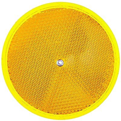 "HY-KO Products CDRF-5A Nail-ON Reflector 2 PK, 3.25"", Amber - Automotive Reflectors - .com"