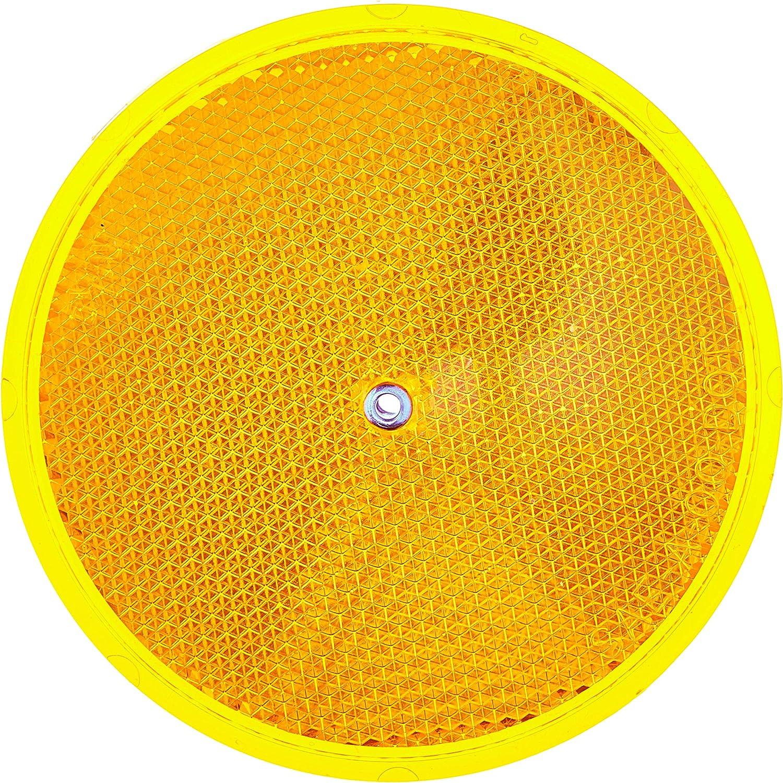 Amber HY-KO Products CDRF-5A Nail-ON Reflector 2 PK 3.25