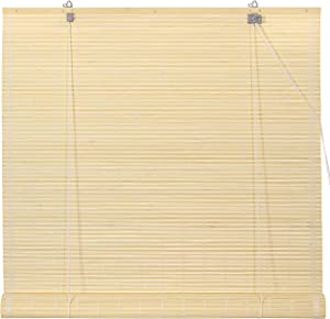 Oriental Furniture Bamboo Roll Up Blinds - Natural - (60 in. x 72 in.)(B)