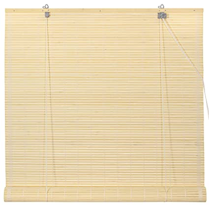 Amazon Com Oriental Furniture Bamboo Roll Up Blinds Natural 24