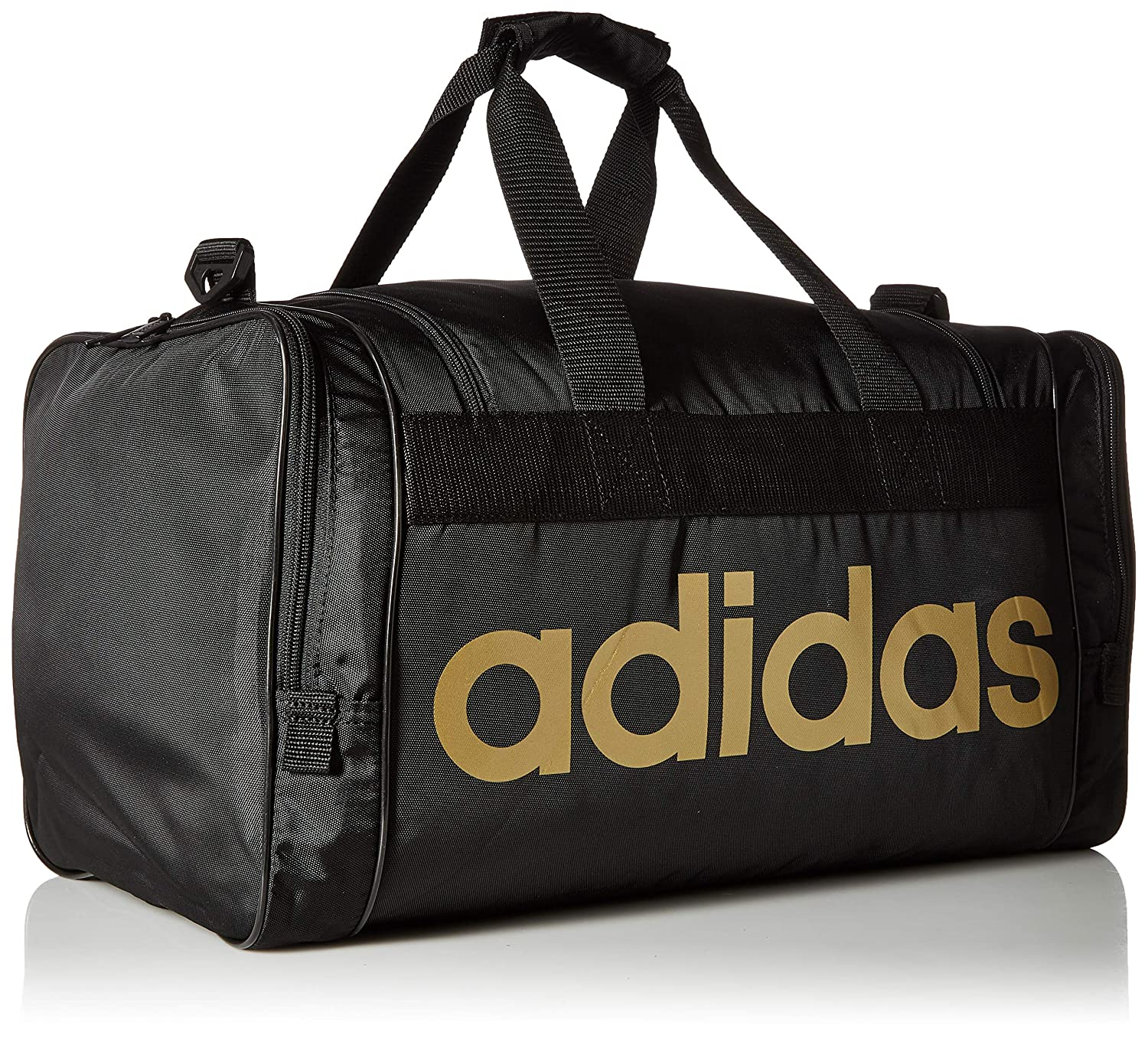 the best attitude b619f a5ae5 Amazon.com adidas Santiago Duffel, BlackGold, One Size Sports  Outdoors
