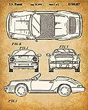 Original Porsche Patent Prints - Set of Four Photos