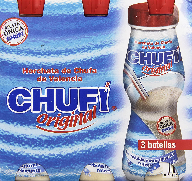 Chufi - Bebida refrescante, Horchata de chufa de valencia, Botella 1 L - [pack de 3]: Amazon.es: Alimentación y bebidas
