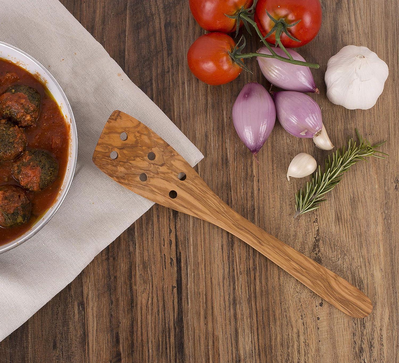 Handcrafted in Europe 12-Inches Eddington 50005 Italian Olive Wood Spatula