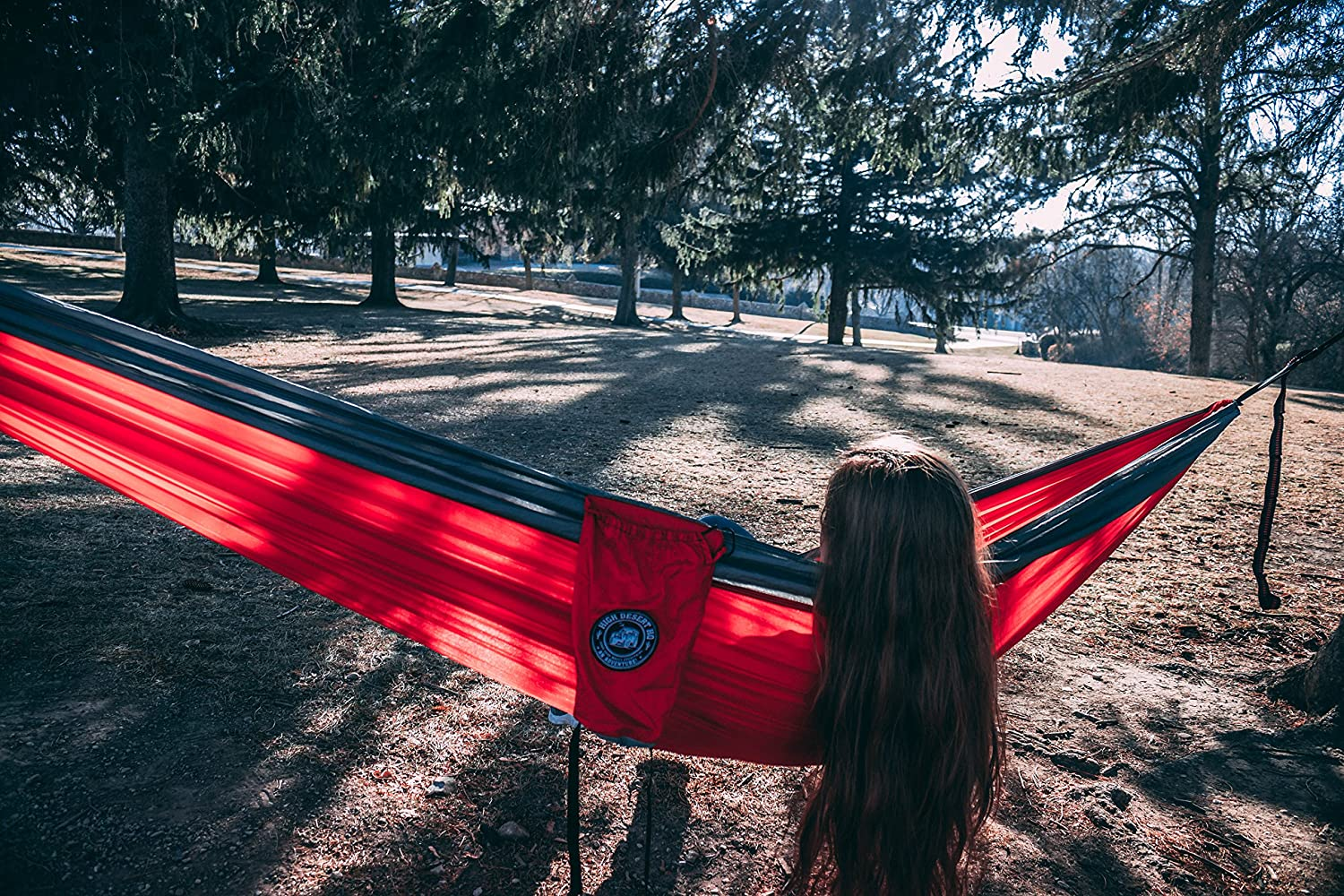 High Desert HQ XL Double Camping Hammock with Heavy Duty Tree Straps