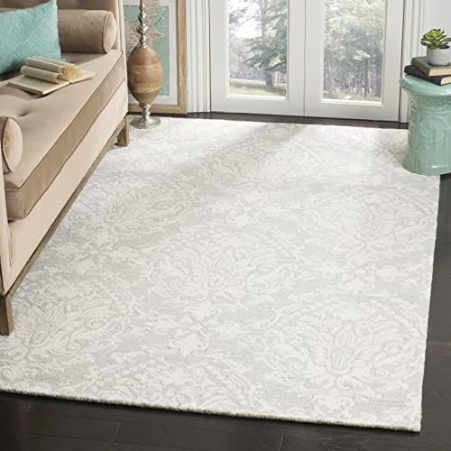 Safavieh Blossom Collection BLM107C Floral Vines Sage and Ivory Premium Wool Area Rug 8 x 10